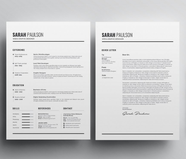 clean_resume_template_business_card_for_teacher