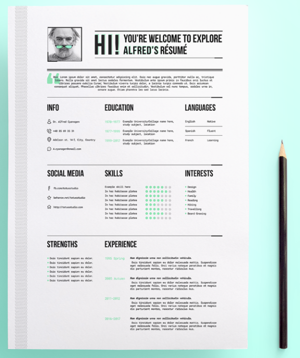 new fully editable resumecv template fully_editable_resume_cv_template