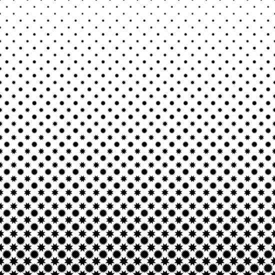 black_and_white_star_pattern