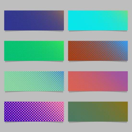 digital_abstract_halftone_dot_pattern_banner_template_background_design_set_horizontal_rectangle_vector_graphics_with_circles_in_varying_sizes