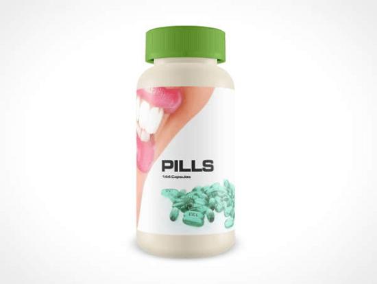 free pill bottle mockup psd
