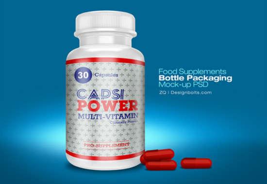 supplement bottle mockup free download