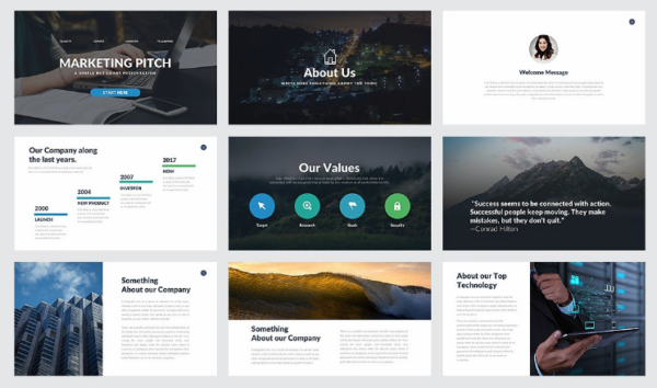 Marketing Pitch Deck PowerPoint by Rocketo Graphics