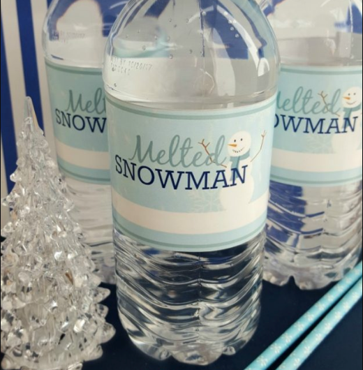 melted_snowman_water_bottle_labels
