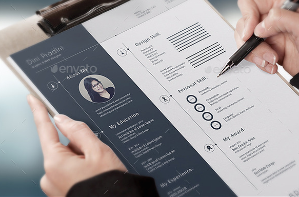 Resume Presentation Document Mockup