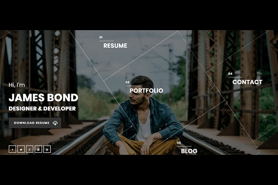 Hello WordPress Resume Theme