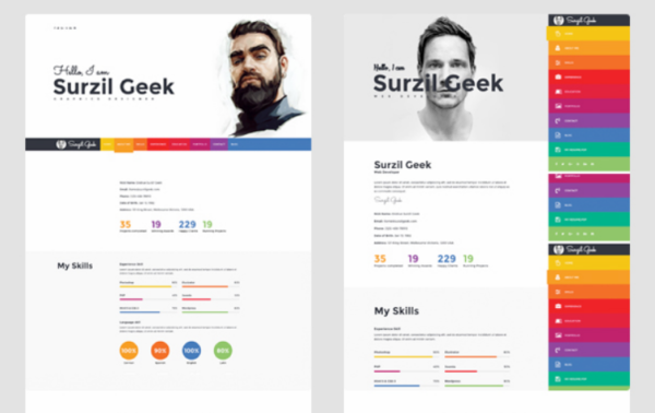 geek_resume_portfolio_theme