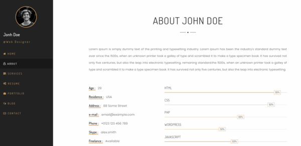 personia_personal_resume_html_template