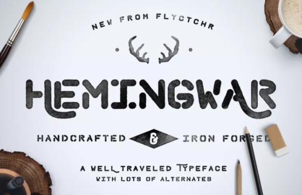 hemingwar_hand_lettered_font