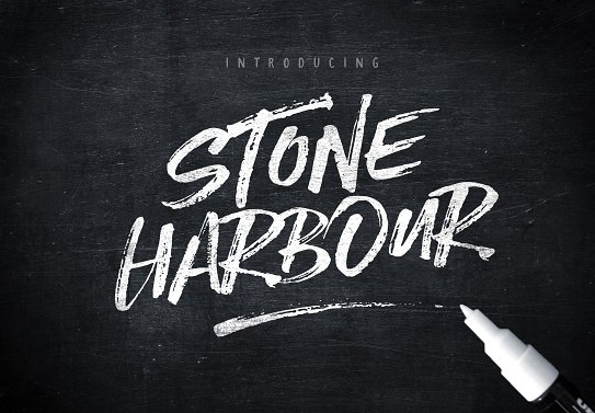 stone_harbour_brush_font