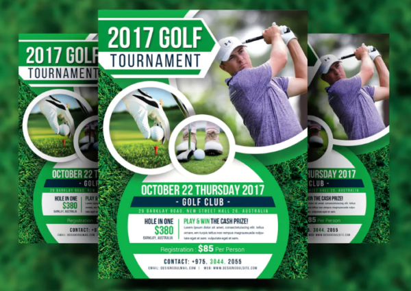 8.5×11 inches Golf Tournament Flyer Design