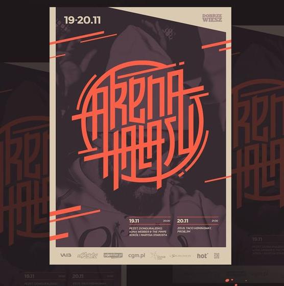 arena_hałasu_ambigram_typography
