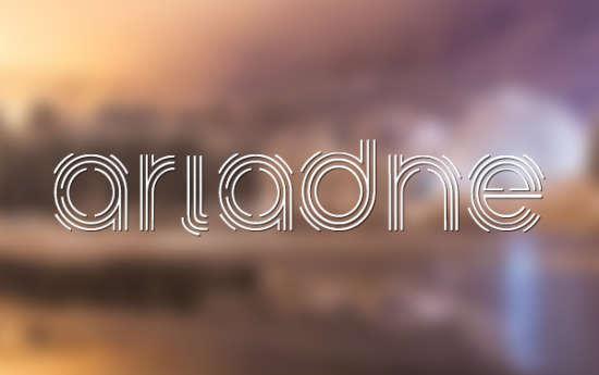 ariadne_modern_stencil_font