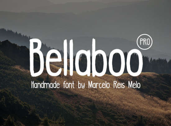 bellaboo_pro_brush_font