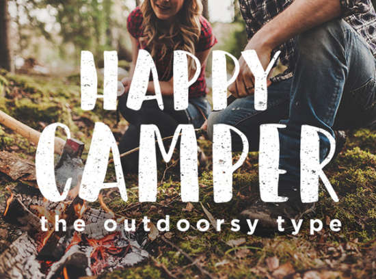 happy_camper_brush_font
