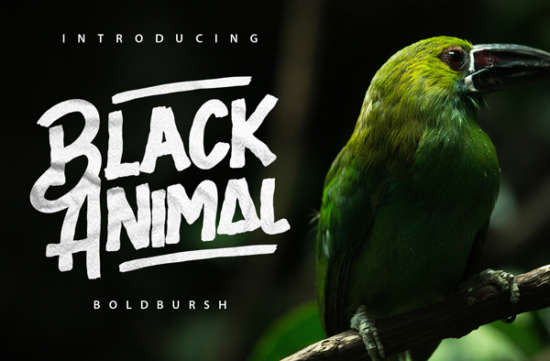black_animal_brush_font