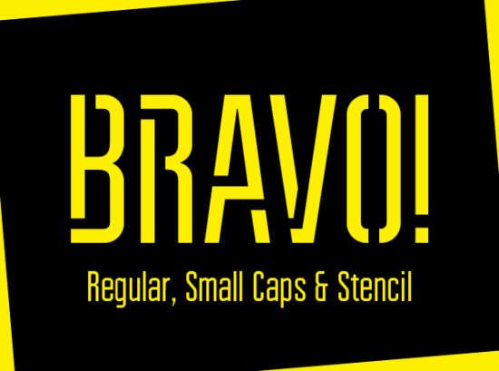 bravo_stencil_font