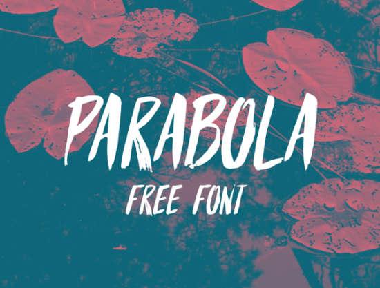 parabola_brush_font