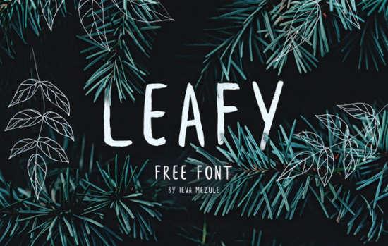 leafy_brush_font