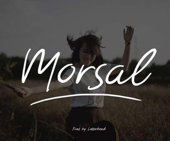 morsal_brush_font