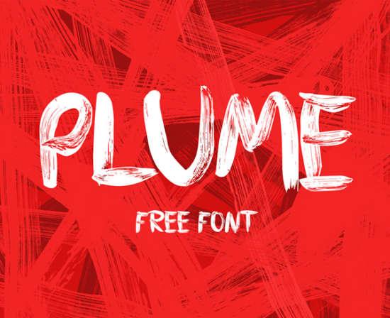 plume_brush_font