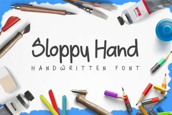 sloppy_brush_font