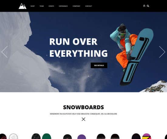snowboarding_sport_html_template