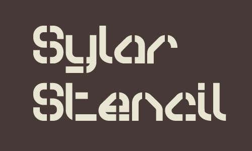 sylar_stencil_font