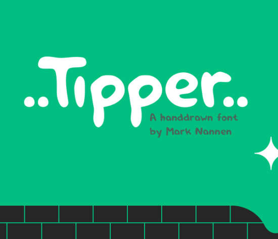 tipper_brush_font