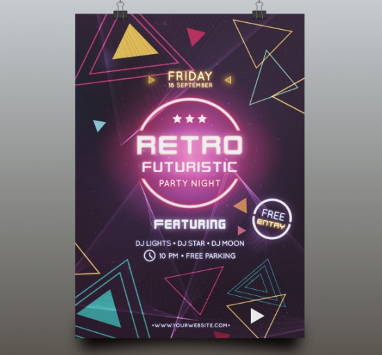 futuristic_party_poster_template