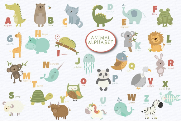 educational_animal_alphabet_clipart