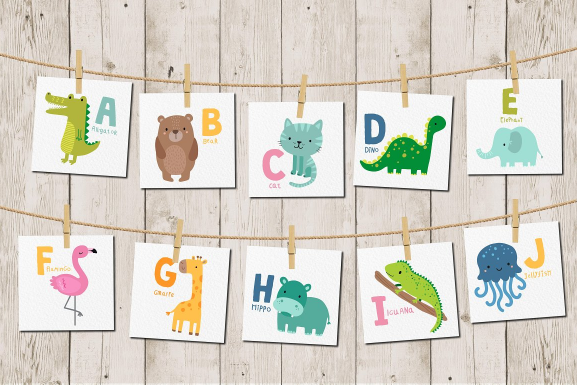 cute_animal_alphabet_vector_set