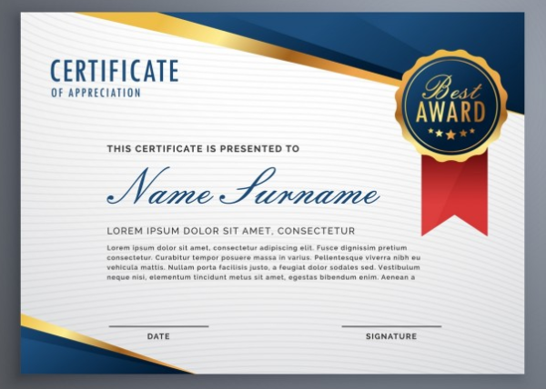20 beautiful free certificate of appreciation templates xdesigns elegant diploma certificate of appreciation with seal elegantdiplomacertificateofappreciationwithseal yadclub Image collections