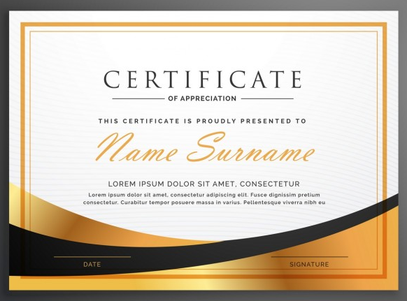 luxurious_certificate_of_appreciation
