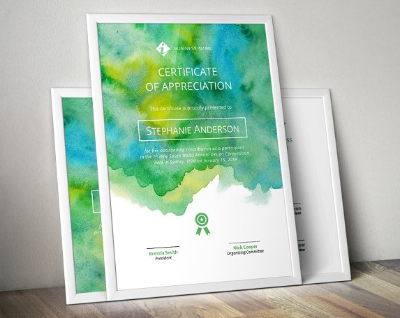 watercolour_certificate_template