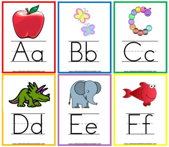 confessions_of_a_homeschooler's_printable_alphabet_flash_cards