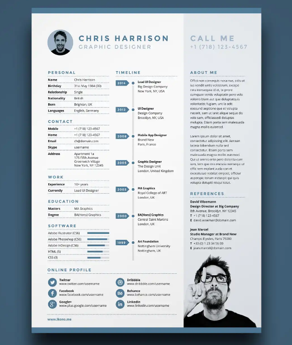 Free A4 One Resume Design. Free_a4_one_resume_design. This A4 One Page  Resume Template ...