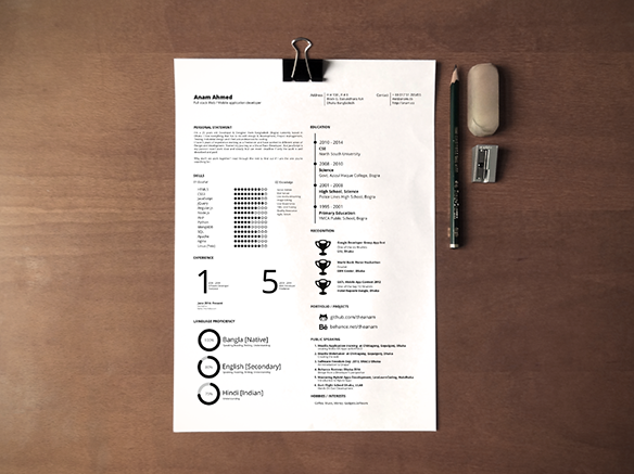 one_page_printable_resume_by_anam_ahmed