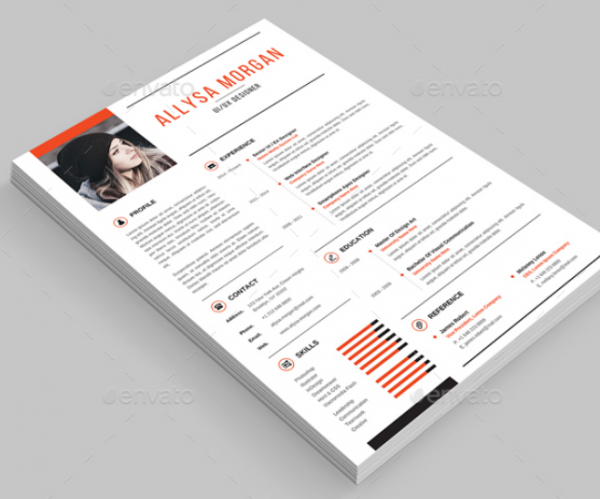 one_page_resume_with_strong_typographic