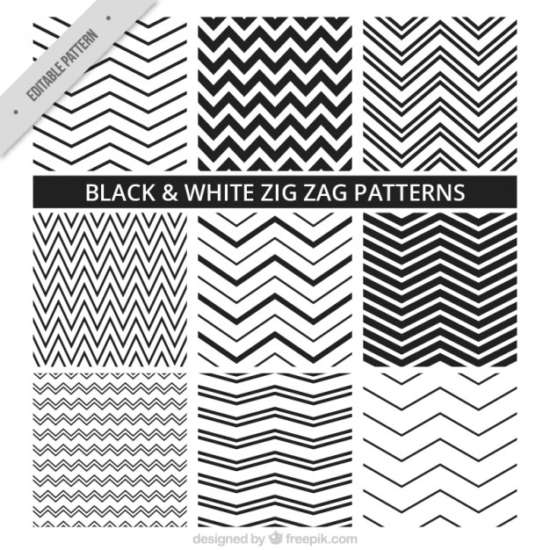 black_and_white_zig_zag_patterns