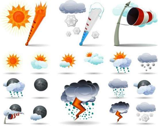 collection_of_weather_icons