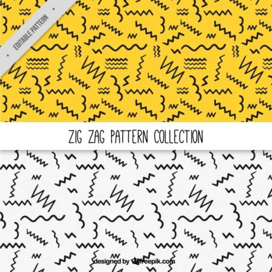patterns_of_handdrawn_zigzag_lines