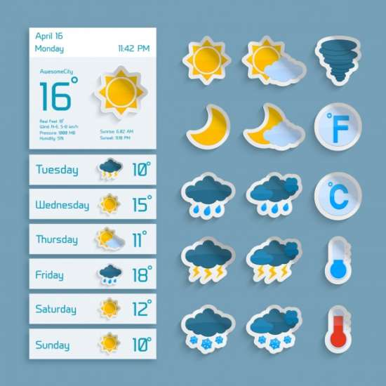 weather_extended_forecast_widgets_icons_vector
