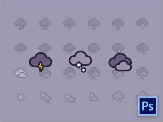 weather_icons_freebie