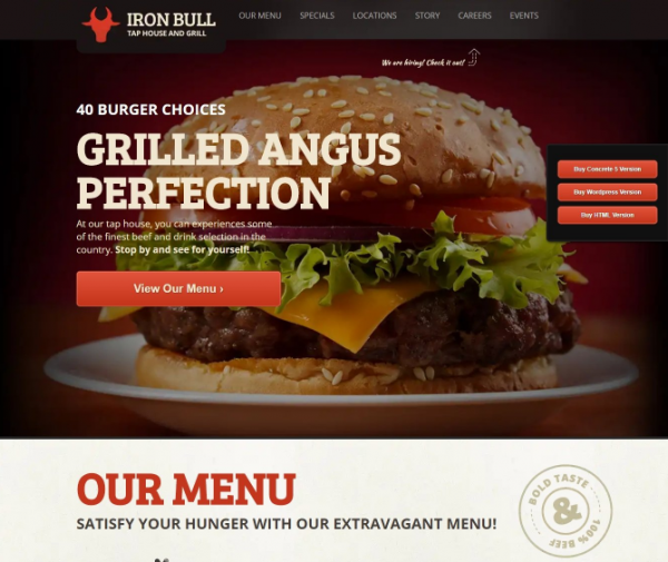 iron_bull_restaurant_concrete5_theme