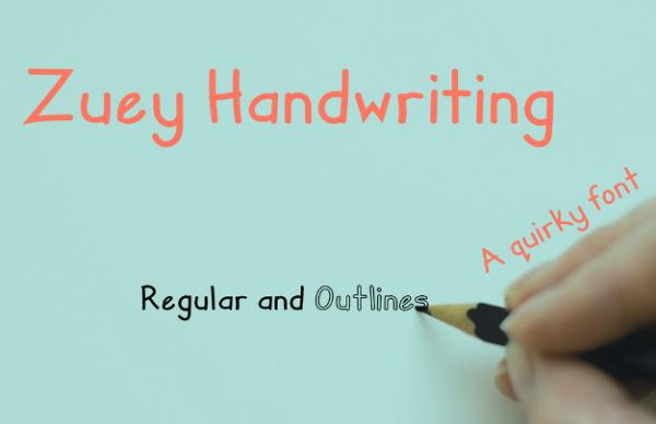 zuey_handwriting_childish_typeface