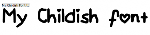 my_childish_font