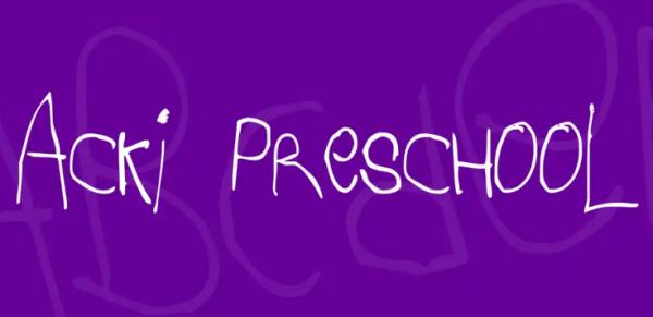 acki_preschool_font