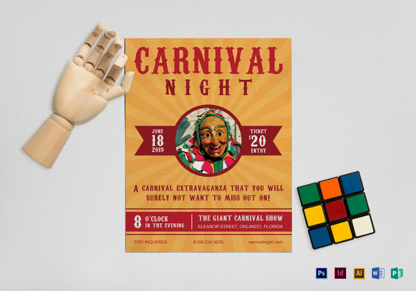 carnival_night_flyer_template