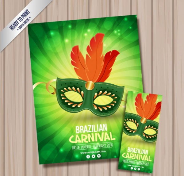 free_elegant_mask_flyer_design